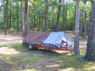 August 2006: Innovative camping behind the Richardson tent