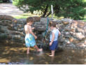 August 2006: Cousins playing at the pool