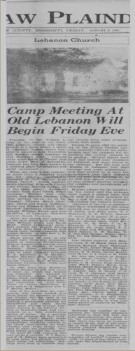 1941 Choctaw Plaindealer article provided by Doyle Nowell