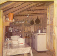 kitchen of Robinson tent in mid 1960s