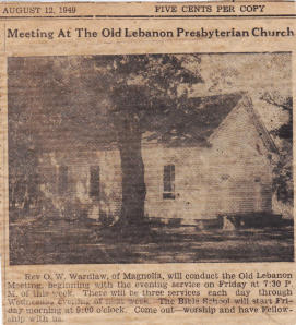 1949 article in Choctaw Plaindealer provided by Margaret King