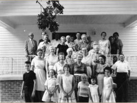 early 1960s: photo taken after the 3 p.m. campmeeting service