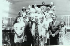 early 1960s: photo taken after the 3 p.m. campmeeting servce